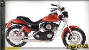 Moto custom bicylindre en V déco murale
