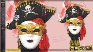 Masque vénitien femme pirate