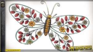 Grand papillon mural en métal (68 cm)