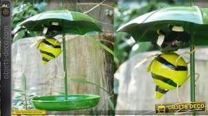 Bain d'oiseau en métal, collection Bath'Bird, modèle à suspendre l'abeille 81cm