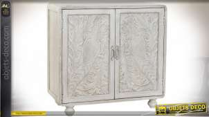 COMMODE MANGUE 97X40X94 PAON VIEILLI BLANC
