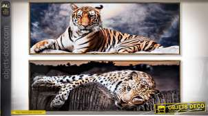 TABLEAU TOILE PS 120X2,3X40 ANIMAUX 2 MOD.