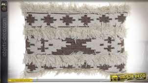 COUSSIN COTON LAINE 60X40 944 GR. MARRON NOIR