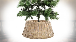 Base d'arbre de Noël en rotin finition naturelle, Ø 45cm