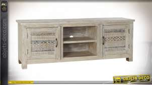 MEUBLE TV MANGUE MDF 160X40X60 NATUREL