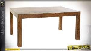 TABLE BOIS MASSIF ACACIA 160X90X76 35