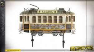 Décoration murale avec crochet en forme d'ancien wagon de tramway portugais, déco vintage, 31cm