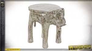 TABLE AUXILIAIRE MANGUE LAITON 37X51X46 ÉLÉPHANT