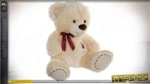 PELUCHE POLYESTER 50X50X52 OURS BEIGE