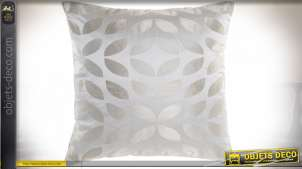 COUSSIN POLYESTER 45X45 450 GR. FEUILLES BEIGE