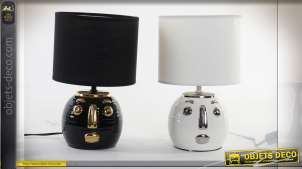 LAMPE DE TABLE CÉRAMIQUE 20X20X32 2 MOD.
