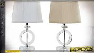 LAMPE DE TABLE VERRE POLYESTER 30X30X47,5 2 MOD.