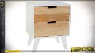 TABLE DE CHEVET RUBBERWOOD 40X30X48 2 CAJ.