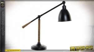 LAMPE DE TABLE MÉTAL 58X18X55 2,3 KG. NOIR