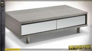 TABLE BASSE MELAMINE MIROIR 140X70X40,5 LAQUÉ