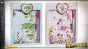 JOURNAL CARTON 14,5X2,5X19,5 56H. TROPICAL 2 MOD.