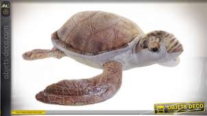 PELUCHE POLYESTER 48X40X13 TORTUE