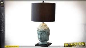 LAMPE DE TABLE MÉTAL 40X40X74 3,5 KG. BOUDDHA