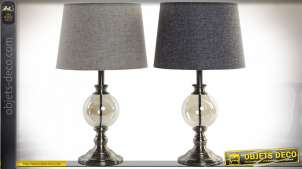 LAMPE DE TABLE MÉTAL VERRE 30X30X53 30 BALL 2 MOD.