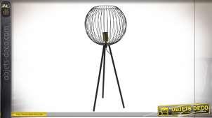 LAMPE DE TABLE MÉTAL 24X24X55 NOIR