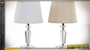 LAMPE DE TABLE VERRE POLYESTER 28X28X46 2 MOD.