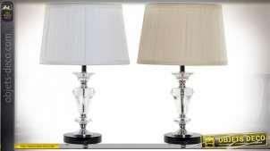 LAMPE DE TABLE VERRE POLYESTER 30X30X48 2 MOD.