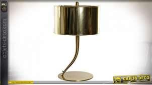 LAMPE DE TABLE MÉTAL PVC 35X35X52 35 DORÉ