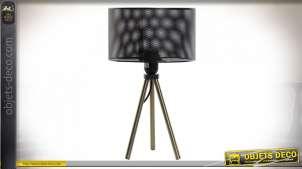 LAMPE DE TABLE MÉTAL 22X22X36 GRIS