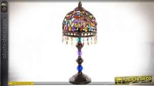LAMPE DE TABLE MÉTAL ACRYLIQUE 22X49 DORÉ