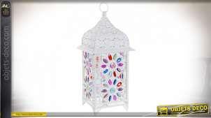 LAMPE DE TABLE MÉTAL ACRYLIQUE 24X24X57 BLANC