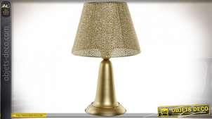 LAMPE DE TABLE MÉTAL 30X30X46 E27 MAT DORÉ