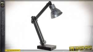 LAMPE DE TABLE MÉTAL 48X16,5X64 ARGENTÉ