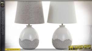 LAMPE DE TABLE CÉRAMIQUE 25X25X41 2 MOD.