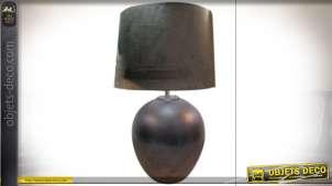LAMPE DE TABLE CÉRAMIQUE VELOURS 38X59 VELOURS