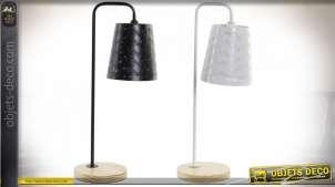 LAMPE DE TABLE MÉTAL BAMBOU 20X14X49,5 E14 2 MOD.
