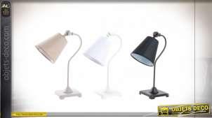 LAMPE DE TABLE MÉTAL TISSU 13X43X4 3 MOD.