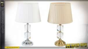 LAMPE DE TABLE VERRE MÉTAL 28X48 2 MOD.
