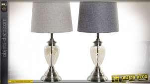 LAMPE DE TABLE MÉTAL VERRE 33X61 33 2 MOD.