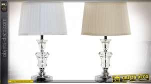 LAMPE DE TABLE VERRE POLYESTER 30X30X49 2 MOD.