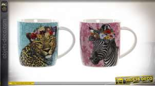 MUG PORCELAINE 12X9X12 360 ML. SAUVAGE 2 MOD.