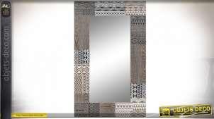 MIROIR BOIS 70X2X120 AFRICAIN SCULPTURE MARRON