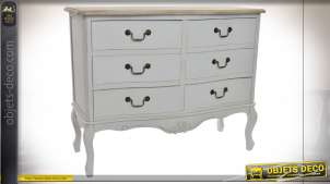 COMMODE BOIS 100X40X80 NATUREL BLANC