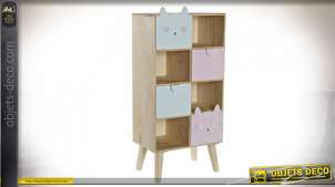 COMMODE PIN 40X25X85 CHATS NATUREL