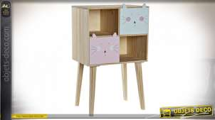 COMMODE PIN 40X27X66 CHATS NATUREL