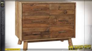 COMMODE BOIS RECYCLE PIN 102X48X85 PORTÉ NATUREL