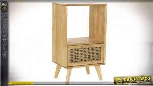 TABLE DE CHEVET CAOUTCHOUC 40X30X69,5 8,3 CALANDRE