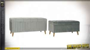 BANQUETTE SET 2 POLYESTER 122X50X58 VELOURS