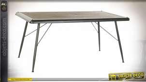 TABLE SAPIN MÉTAL 161X90X75 GRIS CLAIR
