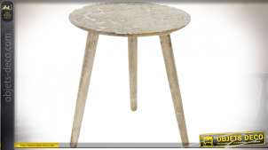 TABLE AUXILIAIRE MANGUE MDF 46X47 NATUREL