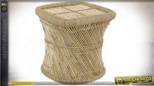 TABLE AUXILIAIRE BAMBOU CORDE 45X45X47 NATUREL